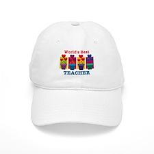 Heart Flower Best Teacher Baseball Cap