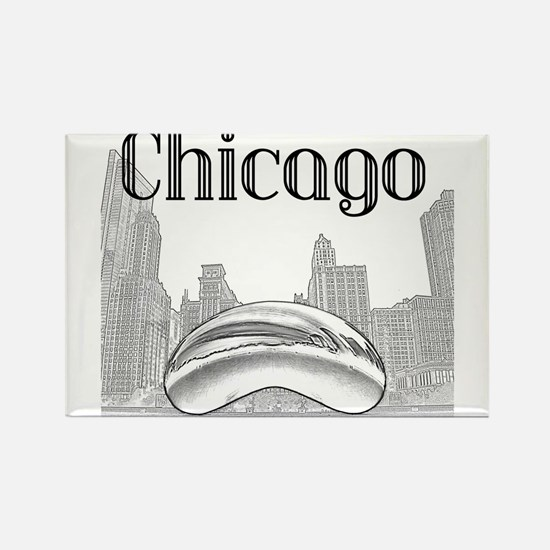 Cute Chicago christmas Rectangle Magnet