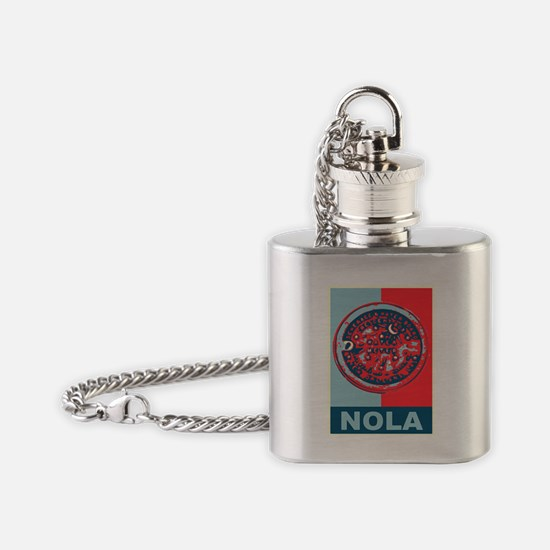 Water Mid Lid in Red Flask Necklace