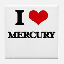 I Love Mercury Tile Coaster