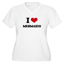 I Love Mermaids Plus Size T-Shirt