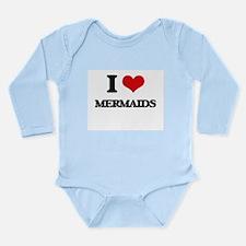 I Love Mermaids Body Suit