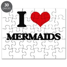 I Love Mermaids Puzzle