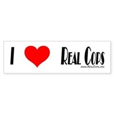 Real Cops Bumper Bumper Sticker Bumper Bumper Sticker