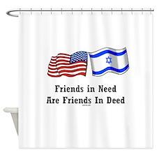 US Israel Friendship Shower Curtain