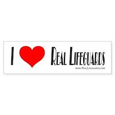 Real Lifeguards Bumper Sticke Bumper Bumper Sticker