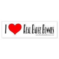 Real Badge Bunnies Bumper Sti Bumper Bumper Sticker