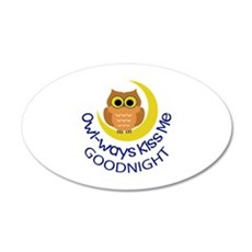 OWLWAYS KISS ME Wall Decal
