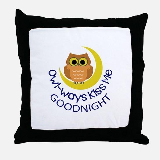 OWLWAYS KISS ME Throw Pillow