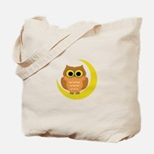 MINI OWL ON MOON Tote Bag