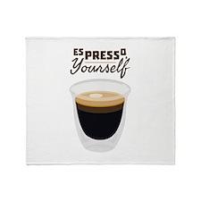 Espresso Yourself Throw Blanket