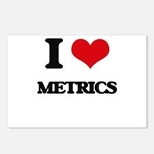 I Love Metrics Postcards (Package of 8)