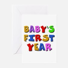 Baby's first year Greeting Cards (6)