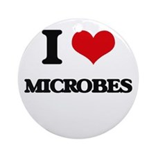 I Love Microbes Ornament (Round)