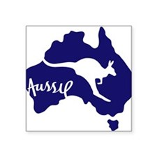 "Cute Down under Square Sticker 3"" x 3"""