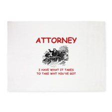 attorney 5'x7'Area Rug