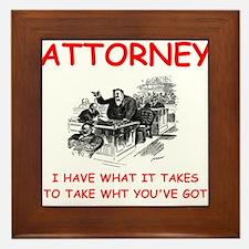 attorney Framed Tile