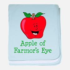 Apple of Farmor's Eye baby blanket