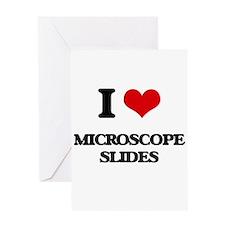 I Love Microscope Slides Greeting Cards