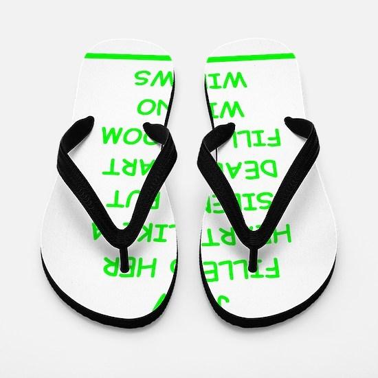 bad writing Flip Flops