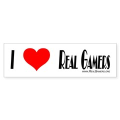 Real Gamers Bumper Bumper Stickers Bumper Bumper Sticker