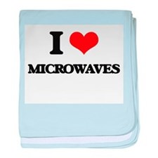 I Love Microwaves baby blanket