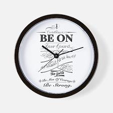 Cool Bible verse Wall Clock