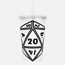 D20 White Acrylic Double-wall Tumbler
