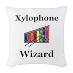 Xylophone Wizard Woven Throw Pillow