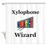 Xylophone Wizard Shower Curtain