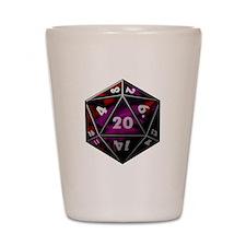 D20 color Shot Glass