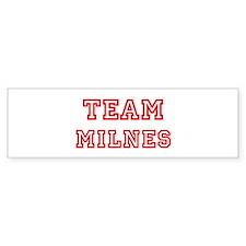 Team MILNES (red) Bumper Bumper Sticker