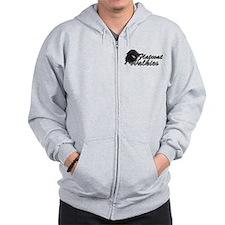 Unique Flatcoated Zip Hoodie