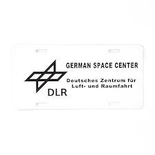 DLR: German Space Center Aluminum License Plate