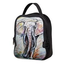 Elephant! Wildlife art! Neoprene Lunch Bag