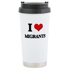 I Love Migrants Travel Coffee Mug