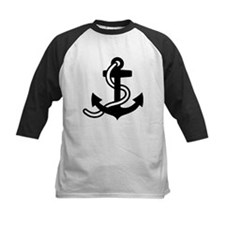 Black anchor Tee