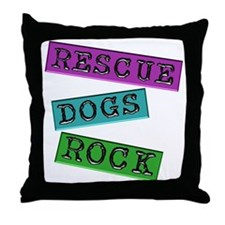 Rescue Dogs Rock Throw Pillow