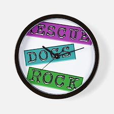 Rescue Dogs Rock Wall Clock
