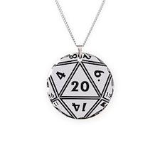 D20 White Halskette