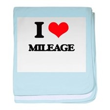 I Love Mileage baby blanket