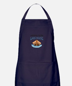 WELCOME TO THE LAKE HOUSE Apron (dark)