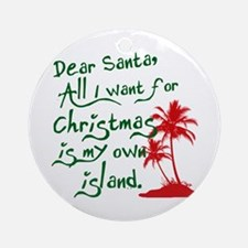 Christmas Island Ornament (Round)