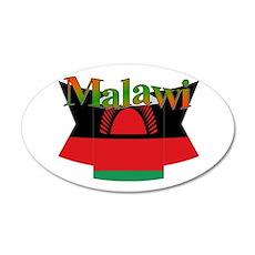 Malawi Flag Ribbon Wall Sticker