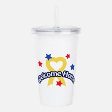 WELCOME HOME SOLDIER Acrylic Double-wall Tumbler