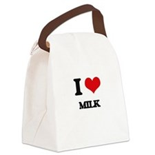 I Love Milk Canvas Lunch Bag