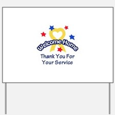 THANK YOU FOR SERVICE Yard Sign