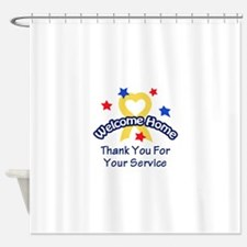 THANK YOU FOR SERVICE Shower Curtain