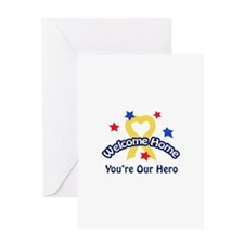 YOURE OUR HERO Greeting Cards