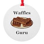 Waffles Guru Round Ornament
